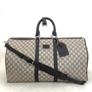 Gucci Supreme Duffle Canvas Luggage